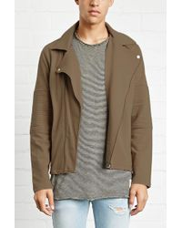 Forever 21 - Quilted Moto Jacket - Lyst