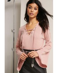 Forever 21 - Brushed Sweater-knit Top - Lyst