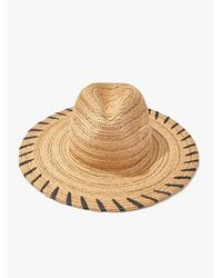 Forever 21 Striped Panama Straw Hat - Natural