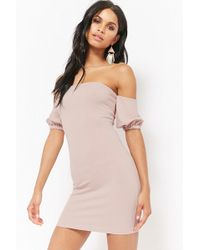 Forever 21 - Off-the-shoulder Bodycon Homecoming Dress - Lyst