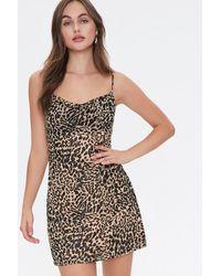 Forever 21 Cheetah Print Cowl Dress - Black