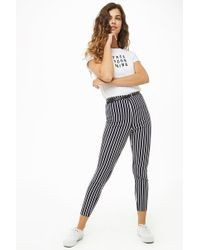 Forever 21 - Striped Skinny Trousers - Lyst