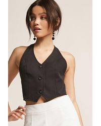 Forever 21 - Eta Button-front Halter Top - Lyst