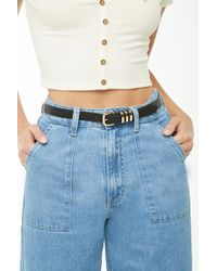 Forever 21 - Faux Leather Skinny Belt - Lyst
