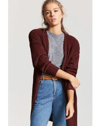 Forever 21 - Ribbed Open-front Cardigan - Lyst