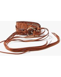 Forever 21 Self-tie Fringe Waist Belt - Brown