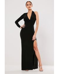Missguided - One-sleeve Maxi Dress At - Lyst