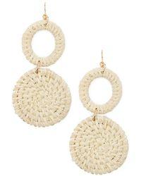 Forever 21 - Women's Tiered Wicker Drop Earrings - Lyst