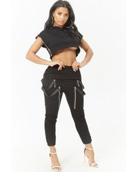 Forever 21 - Cropped Hoodie & Joggers Set - Lyst