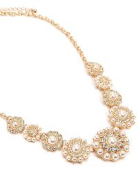 Forever 21 - Women's Faux Pearl Statement Necklace - Lyst