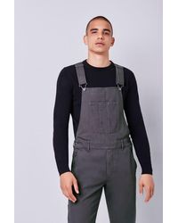 Forever 21 Slim-fit Utility Overalls - Grey