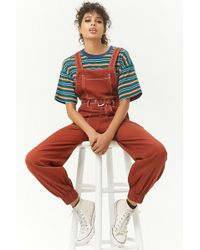 Forever 21 - Contrast Stitched Dungarees - Lyst