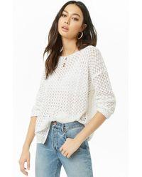 Forever 21 Crochet-knit Sweater , White