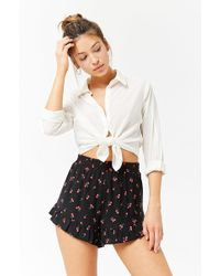 Forever 21 - Cherry Print High-rise Shorts - Lyst