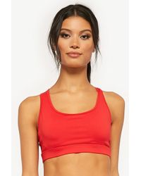 db2f641cc8 Lyst - Forever 21 High Impact - Mesh-back Sports Bra in Red