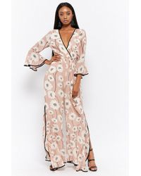 Forever 21 - Lucca Couture Floral Flare Jumpsuit - Lyst