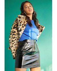 Forever 21 - Women's Vinyl Zip-pocket Skirt - Lyst