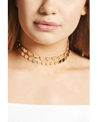 Forever 21 - Heart Chain Choker Set - Lyst