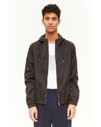 Forever 21 - Sleek Hooded Jacket - Lyst