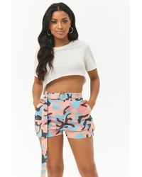Forever 21 - Shorts con stampa mimetica - Lyst