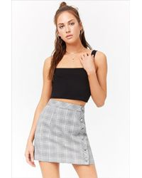 Forever 21 - Plaid Button-front Skirt - Lyst