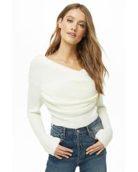 Forever 21 - Ribbed Crossover Sweater - Lyst