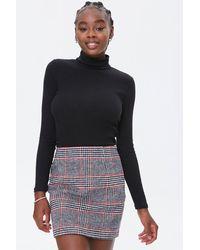 Forever 21 Plaid Mini Skirt - Black