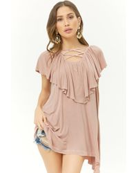 Forever 21 - Longline Flounce Top - Lyst