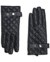 Forever 21 Quilted Faux Leather Gloves , Black