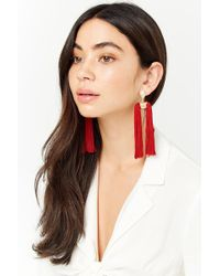 Forever 21 - Geo Tassel Drop Earrings - Lyst