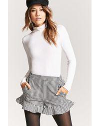 Forever 21 - Women's Gingham Ruffle Shorts - Lyst