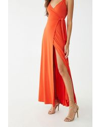 Forever 21 - Maxi Wrap Dress - Lyst