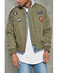 Forever 21 - Hype Patch Bomber Jacket - Lyst