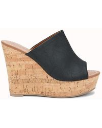 Forever 21 - Faux Leather Mule Wedges - Lyst