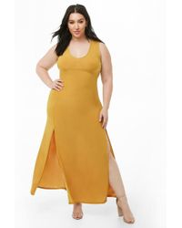 3da5fe15f8ce Forever 21 - Women's Plus Size M-slit Maxi Dress - Lyst