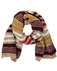 Forever 21 Chunky Ribbed Striped Scarf , Taupe/multi - Multicolour