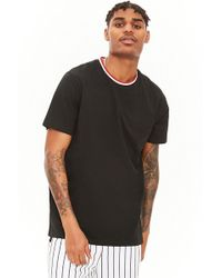 Forever 21 - Contrast Trim Cotton Tee - Lyst
