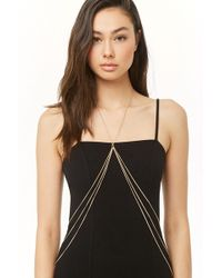 Forever 21 Tiered Body Chain , Gold - Metallic