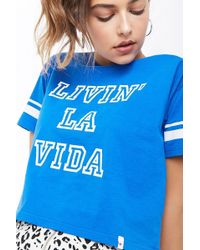 Forever 21 - Livin La Vida Graphic Crop Top - Lyst