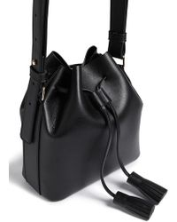 Forever 21 Faux Leather Bucket Bag - Black