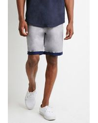 Forever 21 - Contrast-cuff Shorts - Lyst