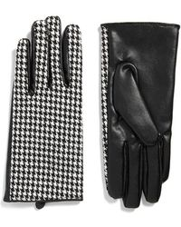 Forever 21 - Faux Leather Houndstooth Gloves - Lyst