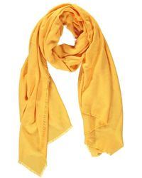 Forever 21 Frayed Trim Oblong Scarf , Mustard - Yellow