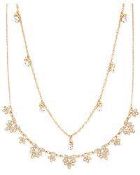 Forever 21 - Rhinestone Leaf Necklace Set - Lyst