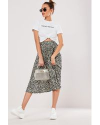 Missguided - Abstract Print Skirt At - Lyst