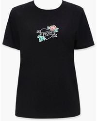 Forever 21 Mom Graphic Tee - Black