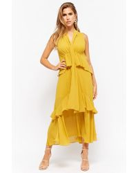 Forever 21 - Sheer Tiered Midi Dress - Lyst