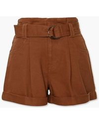 Forever 21 High-rise Paperbag Shorts - Brown