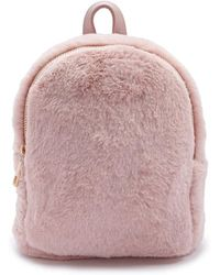 Forever 21 - Faux Fur Mini Backpack - Lyst dbfde30cf92d9