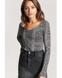 Forever 21 - Marled Ribbed Sweater - Lyst